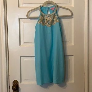 Lilly Pulitzer turquoise girls dress